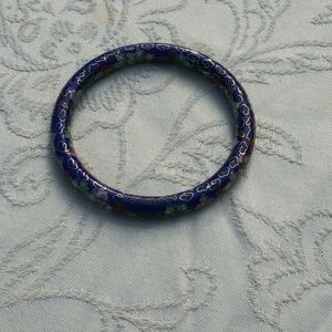 Antique blue bangle bracelet